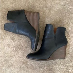 Lucky brand booties/wedges